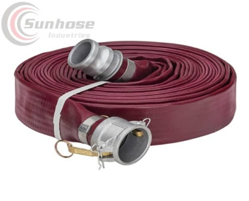 heavy duty layflat hose with couplings