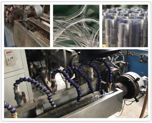 Production of clear pvc flexible hose