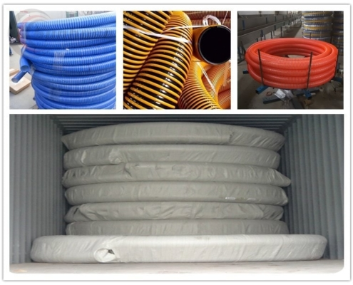Heavy Duty PVC Fabric Reinforced Suction Hose Corrugated