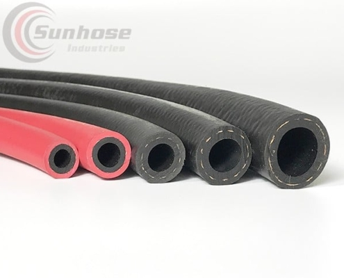 red rubber air water hose