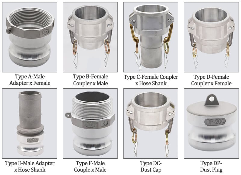 Aluminum camlock couplings