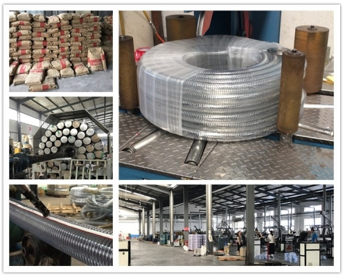 material of clear pvc wire reinforced flexible hose