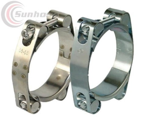 Double bots high strength hose clamp