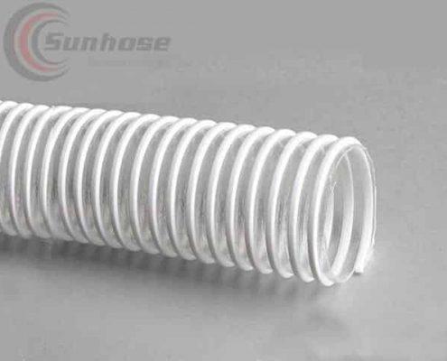 White TPU suction hose